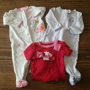 9 month footie pj lot